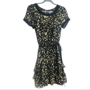 Converse One Star Leopard print ruffle dress